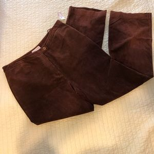 Lord & Taylor Brown suede pants w/full lining
